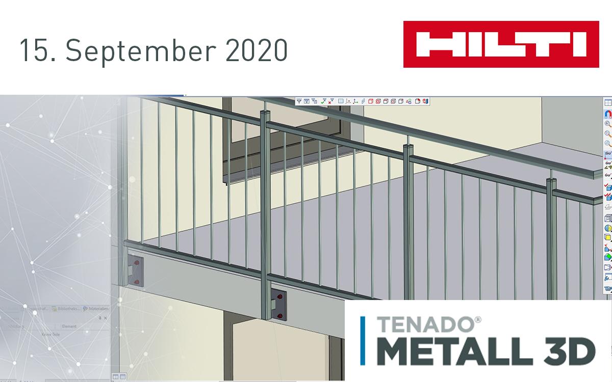 TENADO METALL 3D im Hilti Webinar