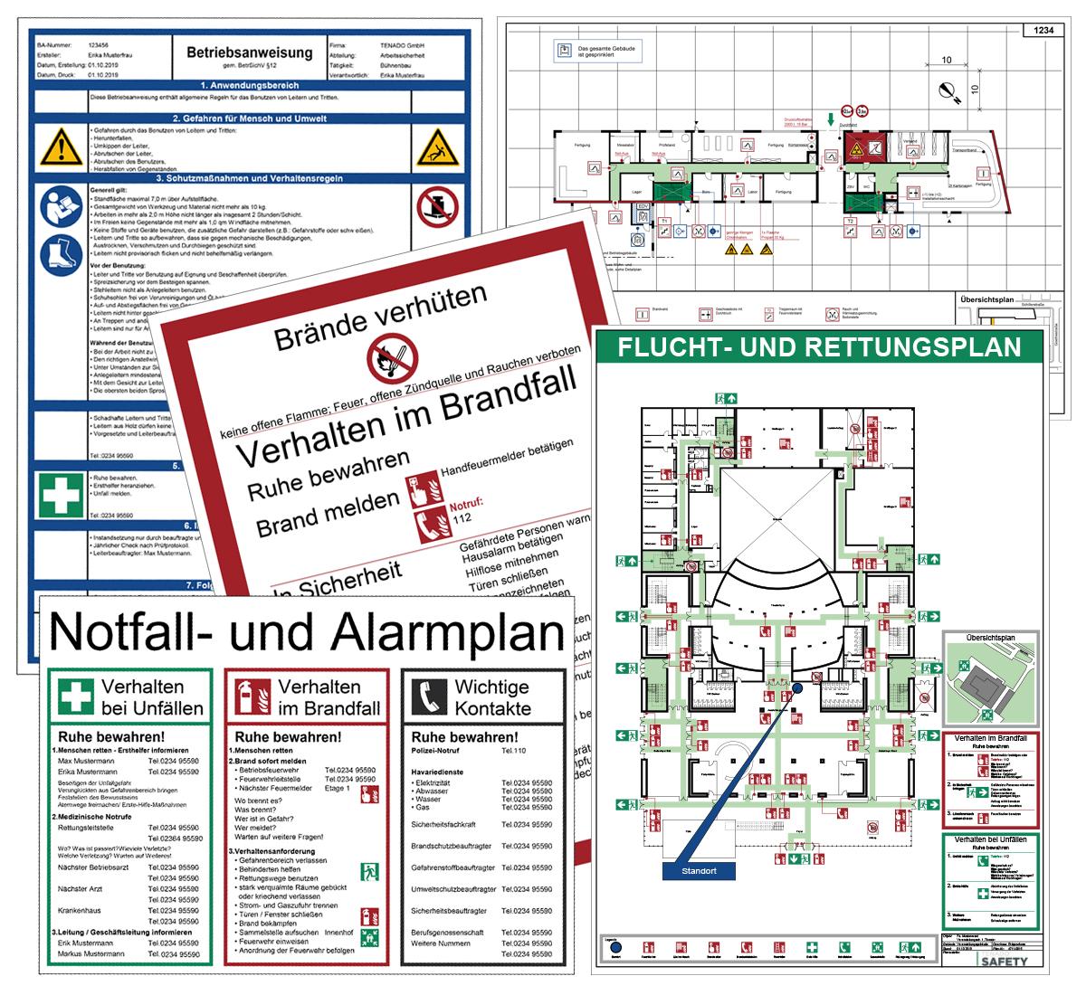 schwarz//rot//gr/ün Stehleiter-Gebrauchsanweisung gem/ä/ß DIN EN 131-3 20,0 x 5,0cm Folie Grund wei/ß Druck